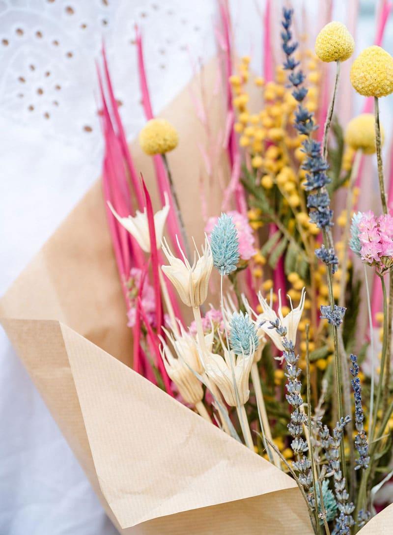 summer dried flowers bouquet